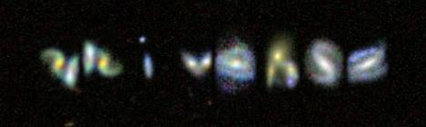 universe word in galaxies