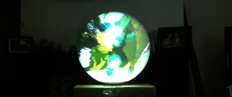 projection mapped sphere