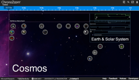 ChronoZoom Screenshot