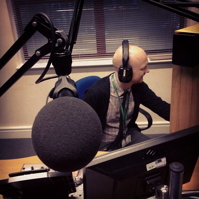 Recording dialog in Radio Studio (Image courtesy of Eric Renno)