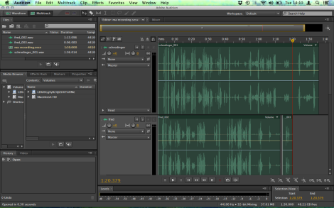 Recording dialog in Adobe Audition