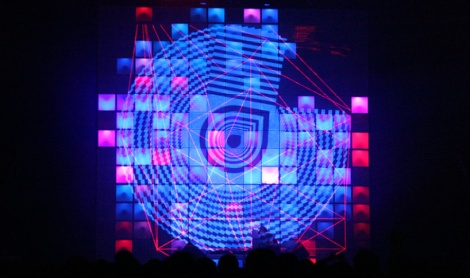 Centros, live visuals by Iregular, Baillat Cardell & fils and Diagraf