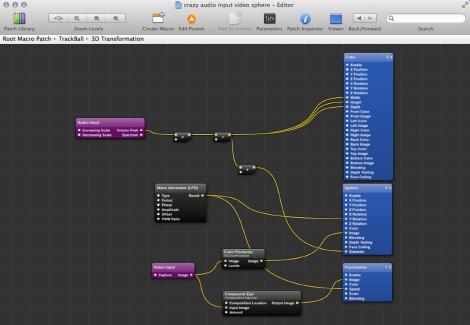 Quartz Composer - Interactive composition