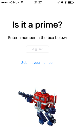 Prime? App UI