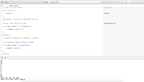 FOR loops in Swift 2